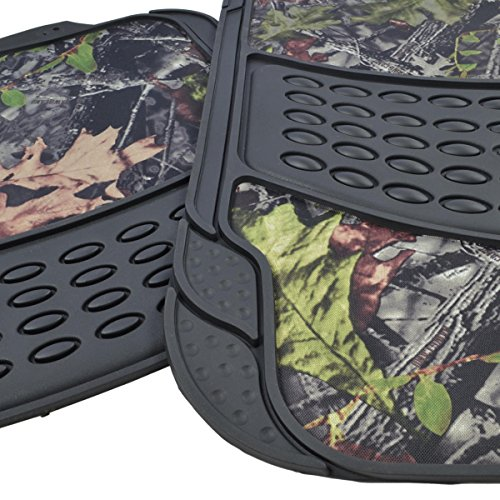 Bdk Camouflage 4 Piece All Weather Waterproof Rubber Car