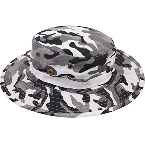 Men s Tactical Outdoor Activties Fishing Camouflage Military Boonie Hat ... 8c3046760e1